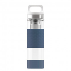 SIGG Thermo Flask Hot & Cold Glass Midnight Bottle 0.4 L