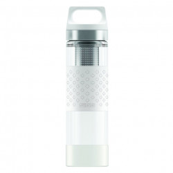 SIGG Thermo Flask Hot & Cold Glass White Bottle 0.4 L