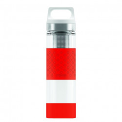 SIGG Thermo Flask Hot & Cold Glass Red Bottle 0.4 L