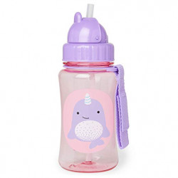 Skip Hop Straw Cup Toddler Transition Sippy Cup, Narwhal