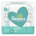 Pampers Sensitive Baby Wipes X3 packs, 168 pieces