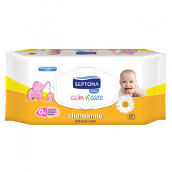 Septona Baby Wipes Chamomile, 64 Pieces