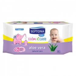 Septona Baby Wipes Aloe Vera, 64 pieces