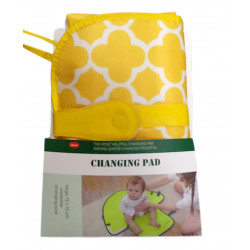 Jatino Portable Waterproof Diaper Changing Mat, Yellow