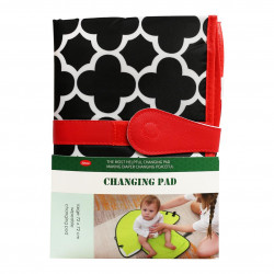 Jatino Portable Waterproof Diaper Changing Mat, Red