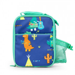Penny Bento Cooler Bag with Pocket - Dino Rock