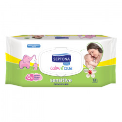 Septona Baby Wipes Sensitive, 64 pieces