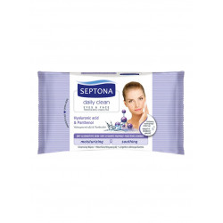 Septona Cosmetics Wipes, Hyaluronic Acid and Panthenol , 20 pieces