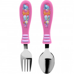 Zak Designs Hatchimals Easy Grip Flatware 2pc