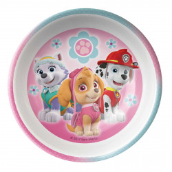Zak Designs Paw Patrol Girl 5.5in Melamine Bowl With Rim