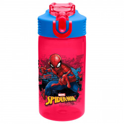 Zak Designs SpiderMan Classic 16oz PP Park Straw Bottle
