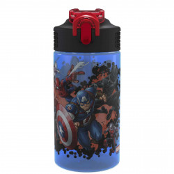Zak Designs Marvel Universe 16 OZ pp Park Straw Bottle