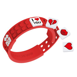 Pixie Friendship Wristband-Love/Red