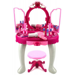 Glamour Make Up Desk With Stool, Musical and Light Mirror Play Set