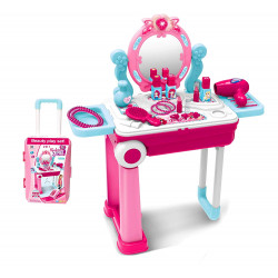 2 in 1 Fashion Beauty Set Trolley with Light and Music Toy for Kids