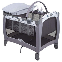 Graco Contour Electra Travel Cot, Block Party
