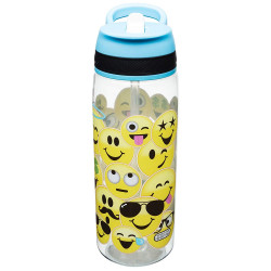 Zak Designs Water Bottles, Tritan Straw, Emojination