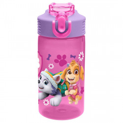 Zak Paw Patrol Plastic Water Bottle - Rubble, Chase, Skye & Everest