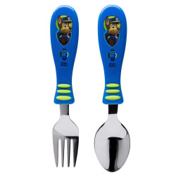 Zak Paw Patrol Boy Easy Grip Flatware 2pc