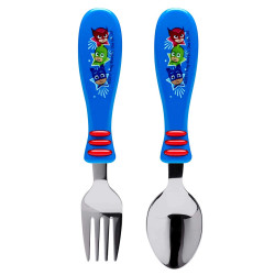 Zak Designs PJ Masks Easy Grip Flatware Fork And Spoon