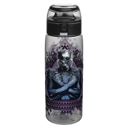Zak Designs Marvel Comics Water Bottle, 25oz, Black Panther