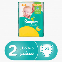 Pampers New Baby-Dry Diapers Size 2 Mini 3-6kg Carry Pack 23 Count