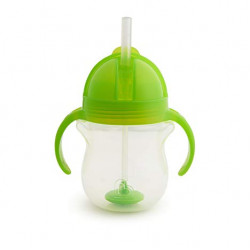 Munchkin Click Lock Weighted Flexi-Straw Cup - 7oz (Green)