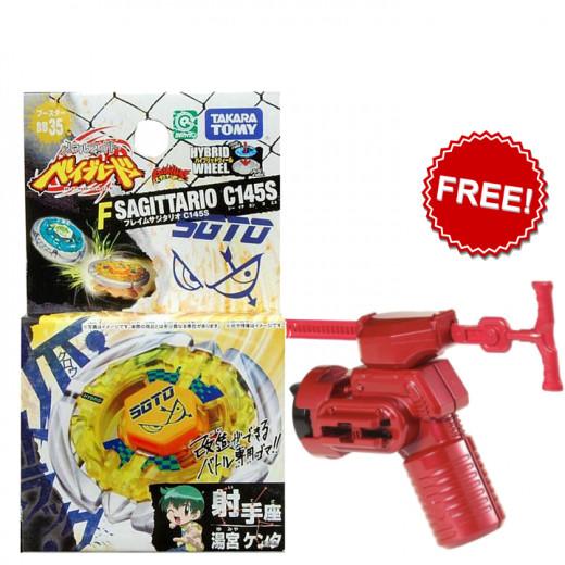 Beyblade Metal Fusion Japanese Flame Sagittario Booster