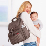 Skip Hop Forma Travel Carry All Diaper Bag Tote with Insulated Bag, One Size, Latte