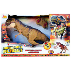 Dinosaur Planet Remote Controlled RC Battery Operated Dragon T-Rex Figure light