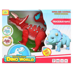 Dinosaur Planet Remote Controlled RC Battery Operated Adorable Triceratops T-Rex Figure Red