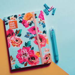 Blue Vintage Floral Summer Notebook A5 Size