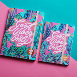 Good Vibes Summer Notebook A6 Size