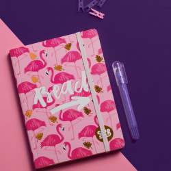 Flamingo Summer Notebook A6 Size