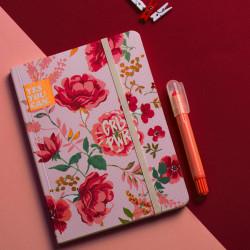 Pink Vintage Floral Summer Notebook A6 Size