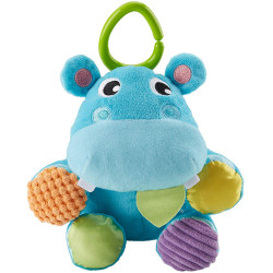 Fisher-Price Ball Hippo, 2-in-1 Plush Baby Toy, Multicolored