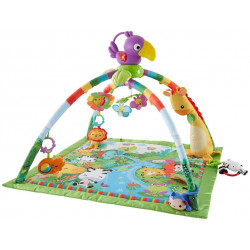 Fisher-Price Rainforest Gym, Baby Playmat with Music and Lights, Suitable from Birth