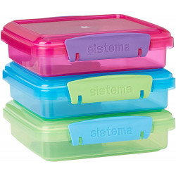 Sistema Lunch Sandwich Box, 450 ml, Assorted Colors