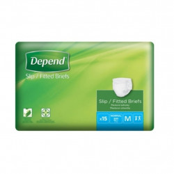 Depend Fitted Briefs Normal Medium, 15 pcs