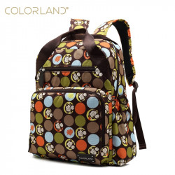 Colorland Diaper Bag Travel Backpack, Green & Brown