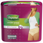 Depend Comfort Protect Underwear for Women, Super Pants for Female S/M, 10 pcs
