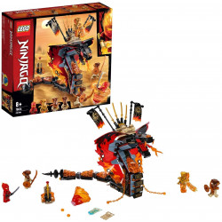 LEGO Ninjago Fire Fang Snake Toy for Kids with 4 Minifigures, Masters of Spinjitzu Playset, 463 pieces.