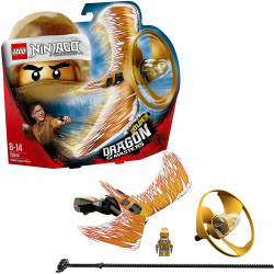 LEGO Ninjago Golden Dragon Master Flying Toy, Easy to Fly Glider for Kids