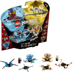 LEGO Ninjago Spinjitzu Nya and Wu Ninja Customisable Spinner Toy Set, 227 pieces