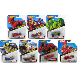 Hot Wheels Marvel 1:64 Character Car Assorted