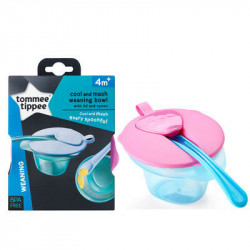 Tommee Tippee Cool & Mash Weaning Bowls 4m+ (Blue)