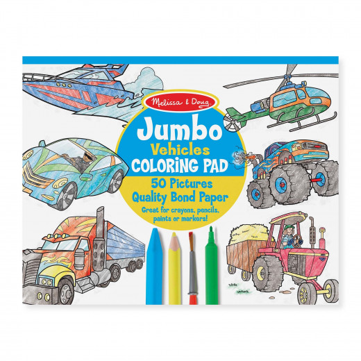 Melissa & Doug Junbo Coloring Pad  - Vehicles