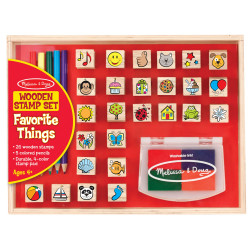 Melissa & Doug Wodden Favorite Things Stamp Set