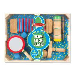 Melissa & Doug Band-In-A-Box Drum! Click! Clack!