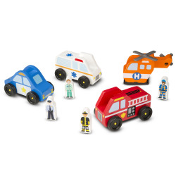 Melissa & Doug Emergency Vehicie Set